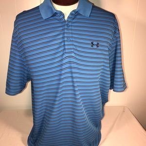 Under Armour Mens XL Loose Fit Golf Polo Shirt